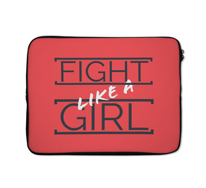 Fight Girl Laptop Sleeves Like a Girl Laptop Sleeves Motivation Laptop Sleeves Girl Boss Laptop Sleeves 13 inch