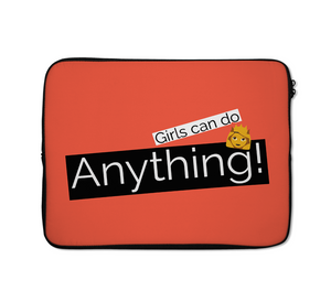 Girls Can Do Any Thing Laptop Carrying Case Women Power Courage