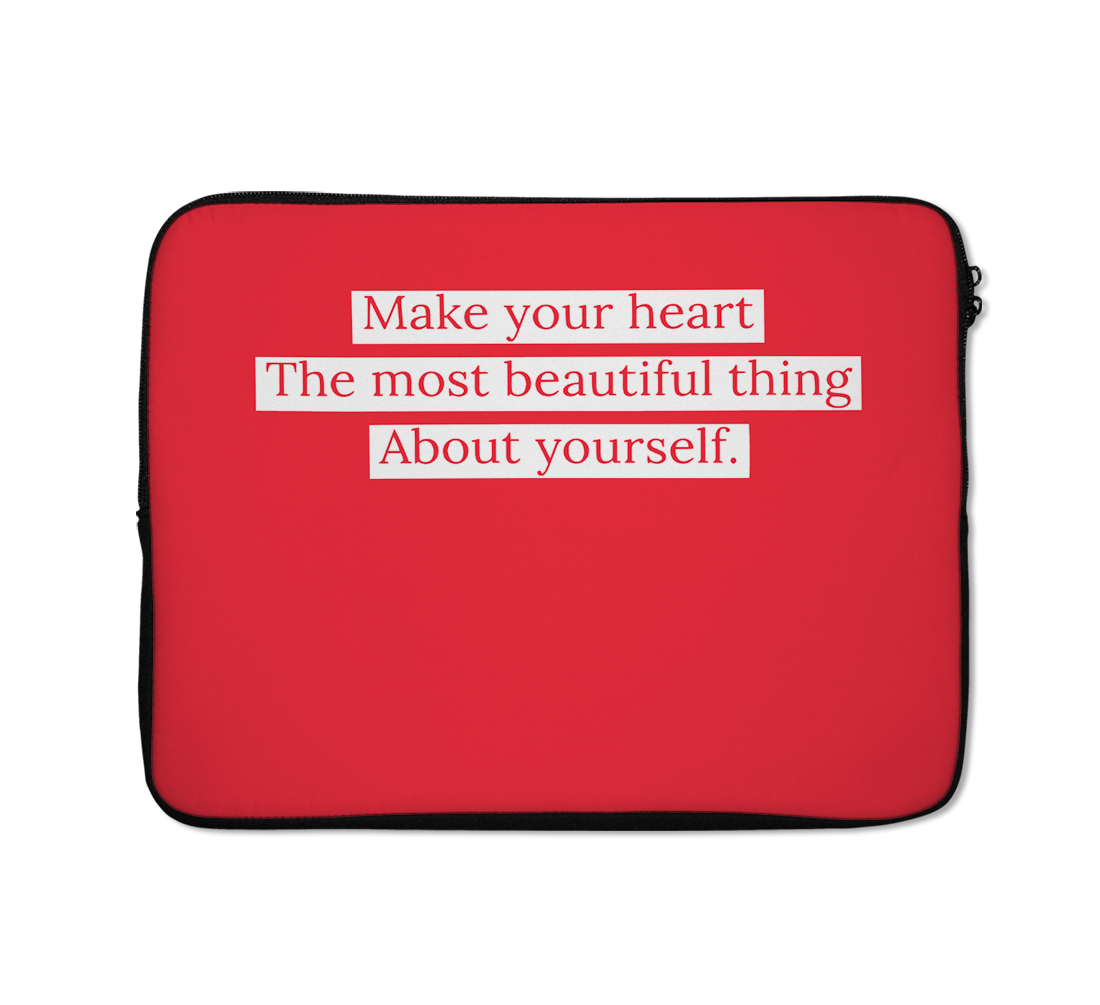 Heart Laptop Sleeves Yourself Laptop Sleeves Motivation Laptop Sleeves Girl Laptop Sleeves 13 inch