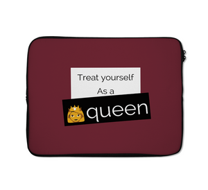 Queen Laptop Sleeves Treat Your Self Laptop Sleeves Girl Power Laptop Sleeves 13 inch