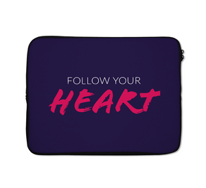 Heart Laptop Sleeves Follow Your Heart Laptop Sleeves 13 inch