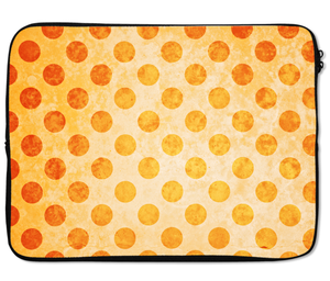 Laptops Tablet Sleeves Tropical Yellow Polka Dot Pattern Premium Quality Neoprene Laptop Protection