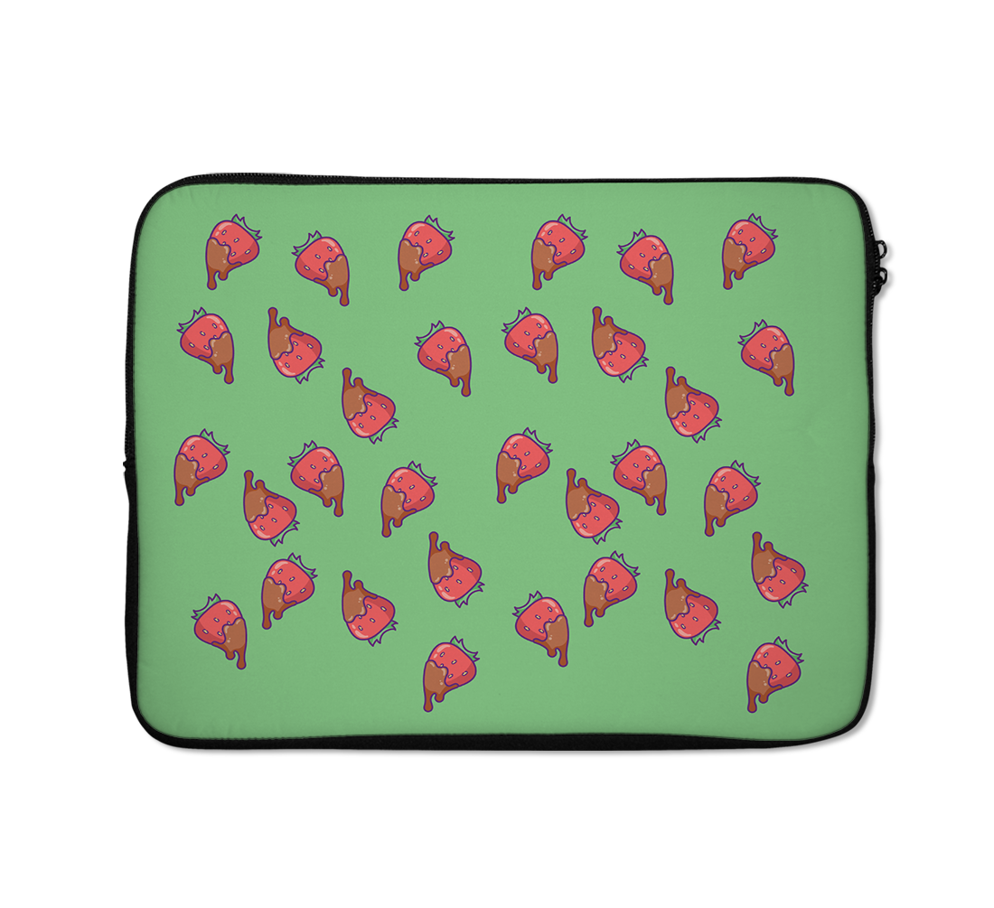 Cute Strawberry Laptop Sleeves Straweberry Chocolate Laptop Sleeves 13 inch