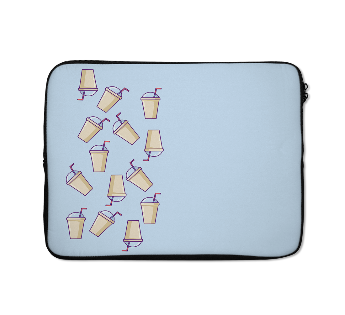 Coffee Laptop Sleeves Frapuccino Laptop Sleeves Blue