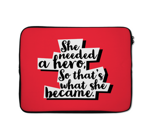 Hero Laptop Sleeves She Is a Hero Laptop Sleeves For Her