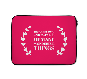Wonderful Things Laptop Sleeves Strong People Laptop Sleeves 13 inch