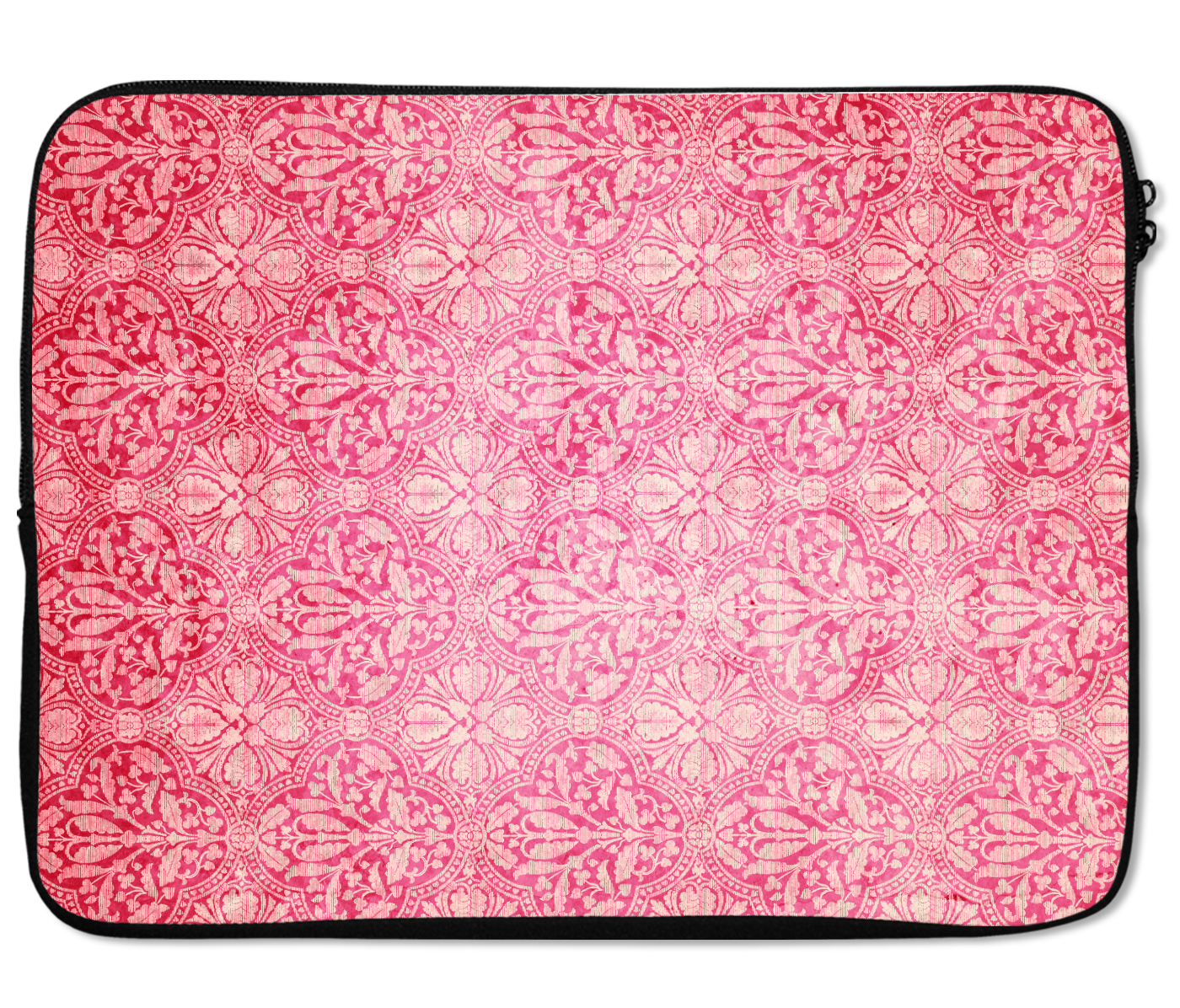 Laptops Tablet Sleeves Pretty Damask Vintage Pink Pattern Premium Quality Neoprene Laptop Protection