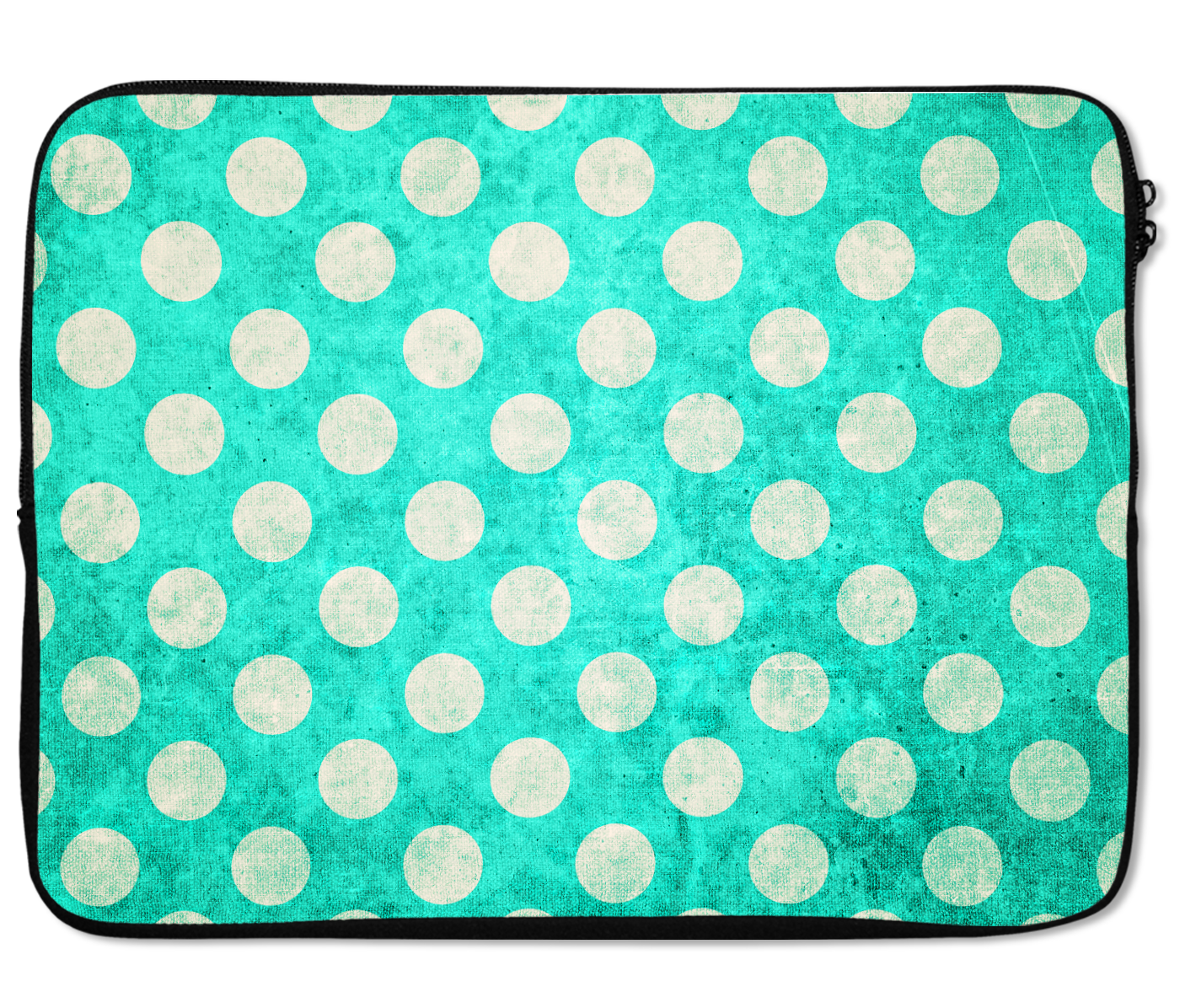 Laptops Tablet Sleeves Vintage Neon Tropical Green Polka Dot Pattern Premium Quality Neoprene Laptop Protection