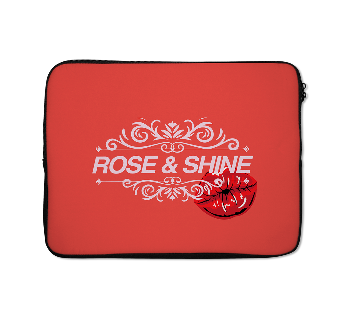 Rose And Shine Phine Case Lips Laptop Sleeves Kiss Laptop Sleeves 13 inch