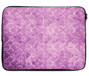 Laptops Tablet Sleeves Wild Flower Pruple Damask Pattern Premium Quality Neoprene Laptop Protection
