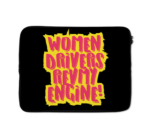 Women Drivers Laptop Sleeves Engine Laptop Sleeves 13 inch