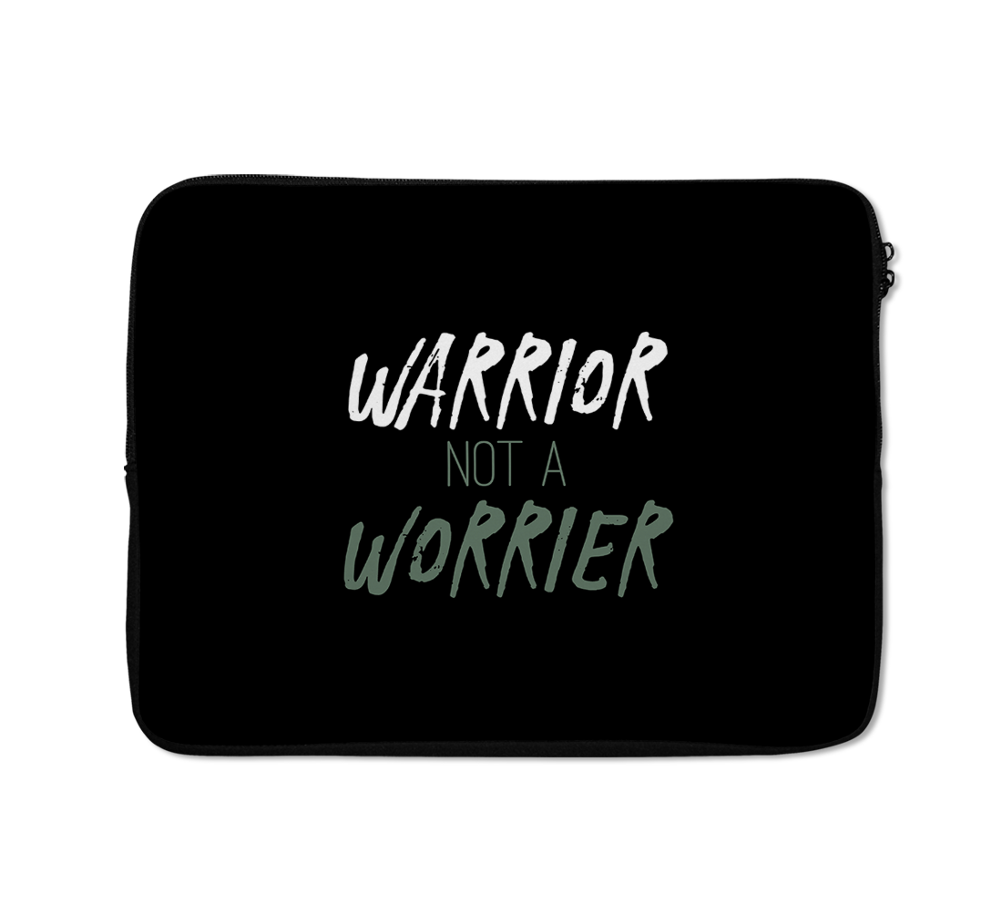 Warrior Laptop Sleeves Typography Laptop Sleeves Motivational Laptop Sleeves 13 inch