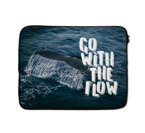 Go With The Flow Laptop Sleeves Ocean Laptop Sleeves Surf Laptop Sleeves 13 inch