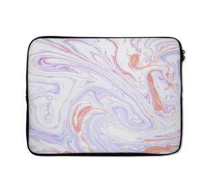Liquid Marble Laptop Sleeves Liquid Blue And Pink Laptop Sleeves 13 inch