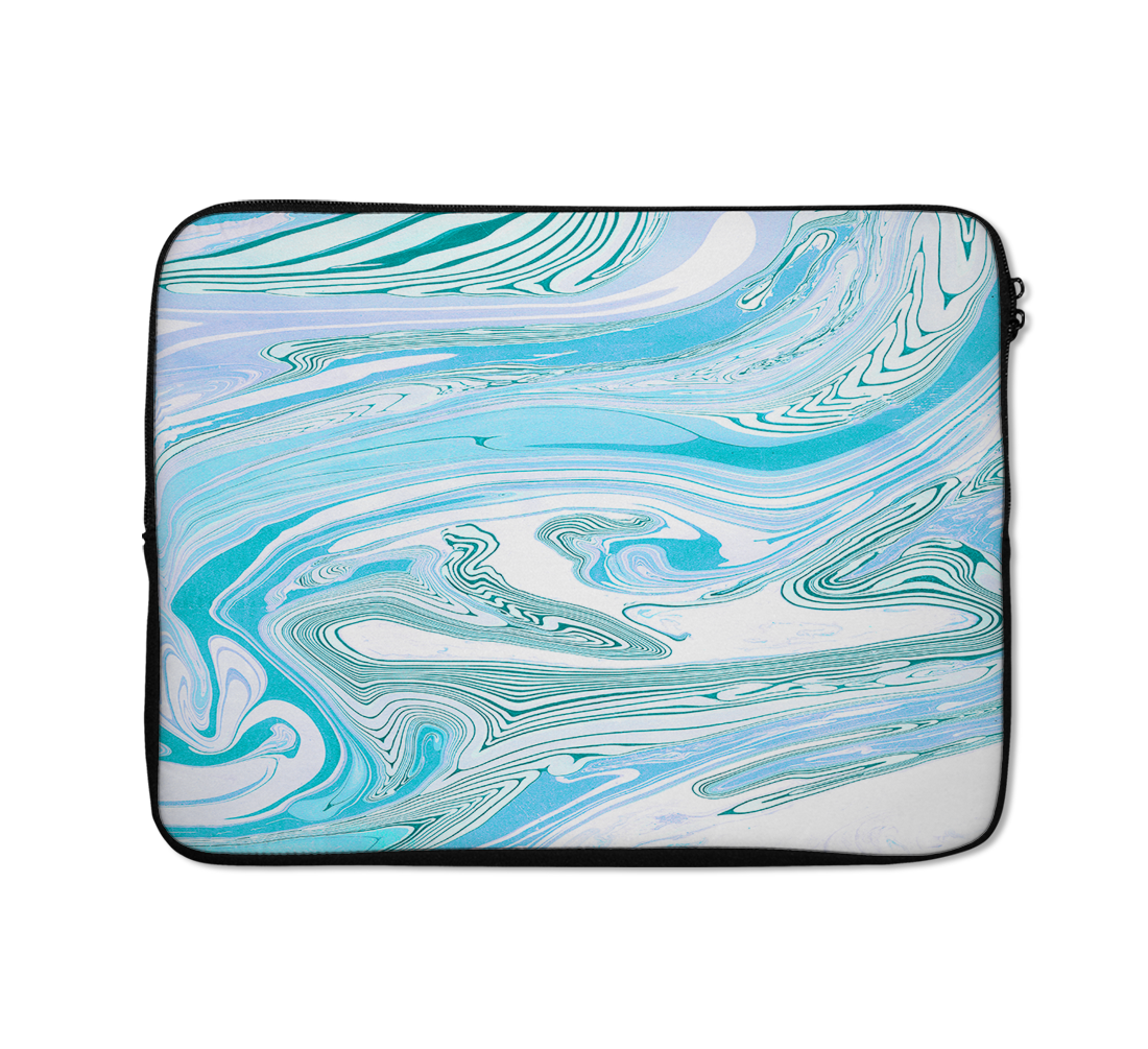 Liquid Marble Laptop Sleeves Liquid Marble Blue Laptop Sleeves 13 inch