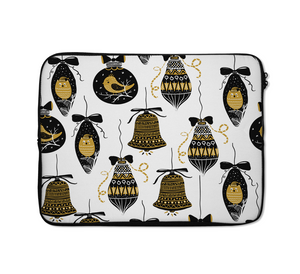 Christmas Ornaments Laptop Sleeves Bells