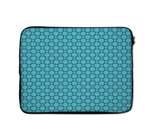Geometry Architectural Laptop Sleeves Green And Blue Style