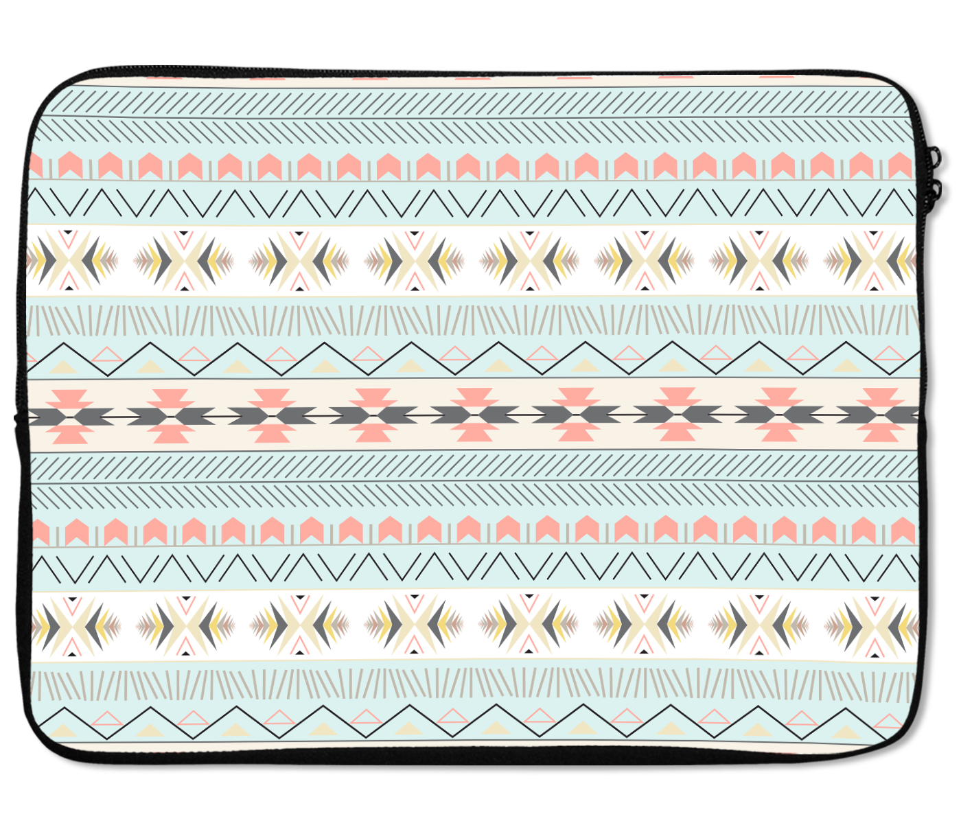 Laptops Tablet Sleeves Soft Colors Chic Elegant Tribal Pattern Premium Quality Neoprene Laptop Protection