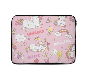Unicorn Pink Laptop Sleeves Unicorn Pattern Laptop Sleeves 13 inch