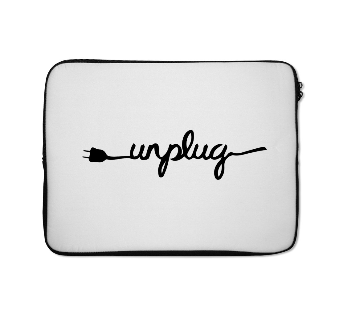 Unplug Laptop Sleeves Motivational Laptop Sleeves Inspirational Laptop Sleeves 13 inch
