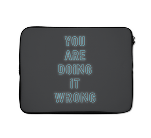 Wrong Laptop Sleeves Neon Laptop Sleeves Dark Grey Laptop Sleeves 13 inch