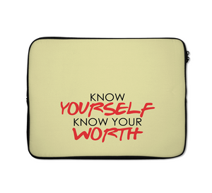 Know Yourself Laptop Sleeves Worth Laptop Sleeves Quote Laptop Sleeves 13 inch