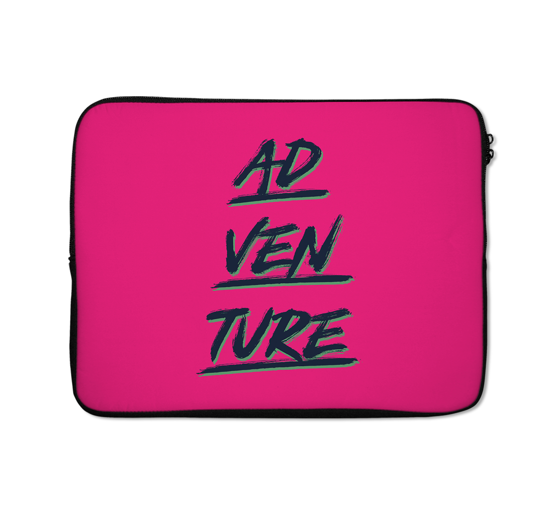 Adventure Laptop Sleeves Pink Case Typography Laptop Sleeves 13 inch