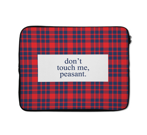 Dont Touch Me Laptop Sleeves Burbery Laptop Sleeves 13 inch