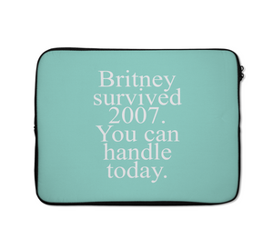 Britney Laptop Sleeves Survive Laptop Sleeves Pun Laptop Sleeves 13 inch