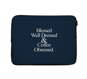 Blessed Laptop Sleeves Well Dressed Laptop Sleeves Coffee Laptop Sleeves 13 inch