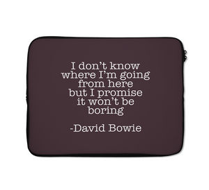 Quote Laptop Sleeves David Bowie Laptop Sleeves 13 inch