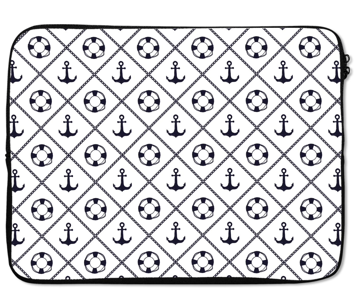 Laptops Tablet Sleeves Nutical Pattern Life Saver Anchors Premium Quality Neoprene Laptop Protection