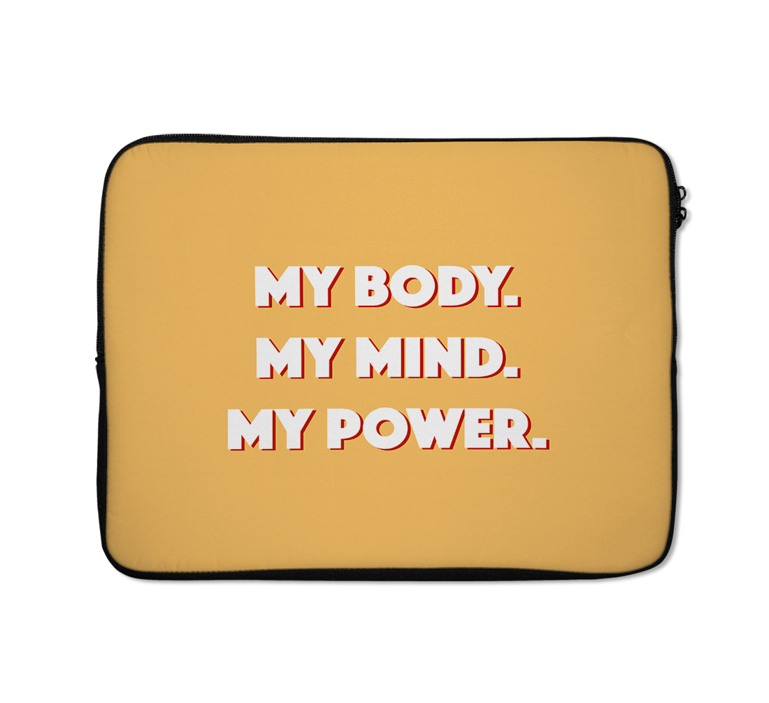 My Body Laptop Sleeves Inspirational Laptop Sleeves Mind Power Laptop Sleeves 13 inch