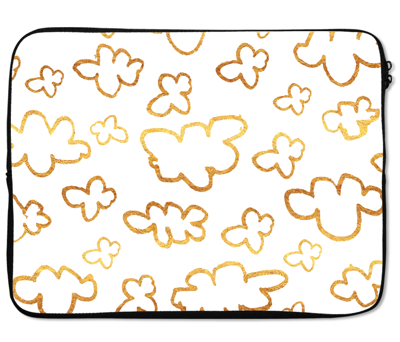 Laptops Tablet Sleeves Golden Cloud Pattern Premium Quality Neoprene Laptop Protection