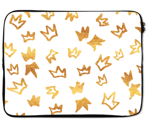 Laptops Tablet Sleeves Crown Golden Pattern Premium Quality Neoprene Laptop Protection