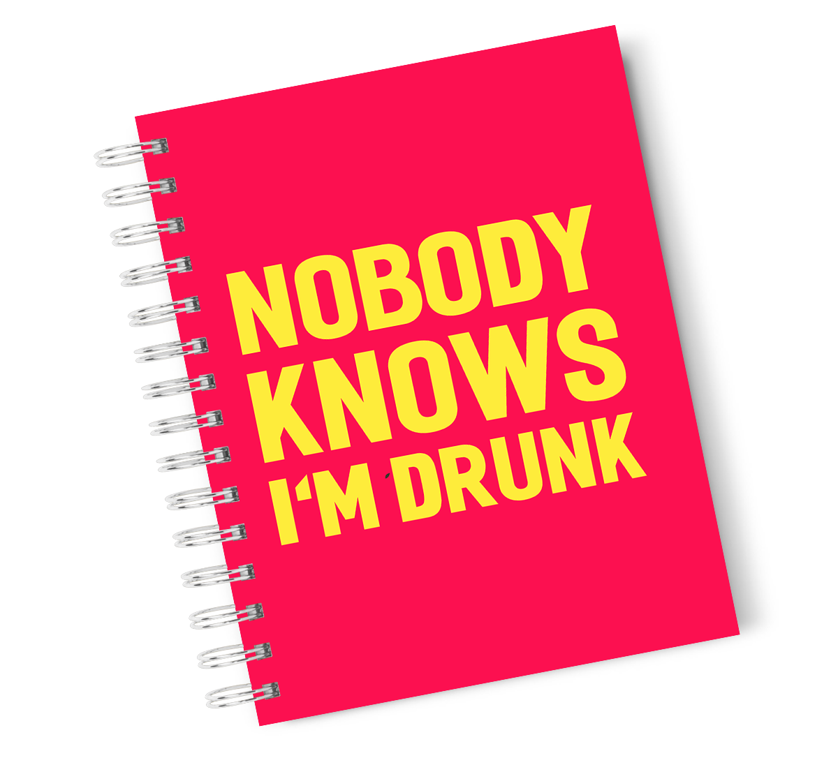 A4 Hardcover Notebook i Am Drunk Funny Spiral Notebook with High Quality Bright White Paper