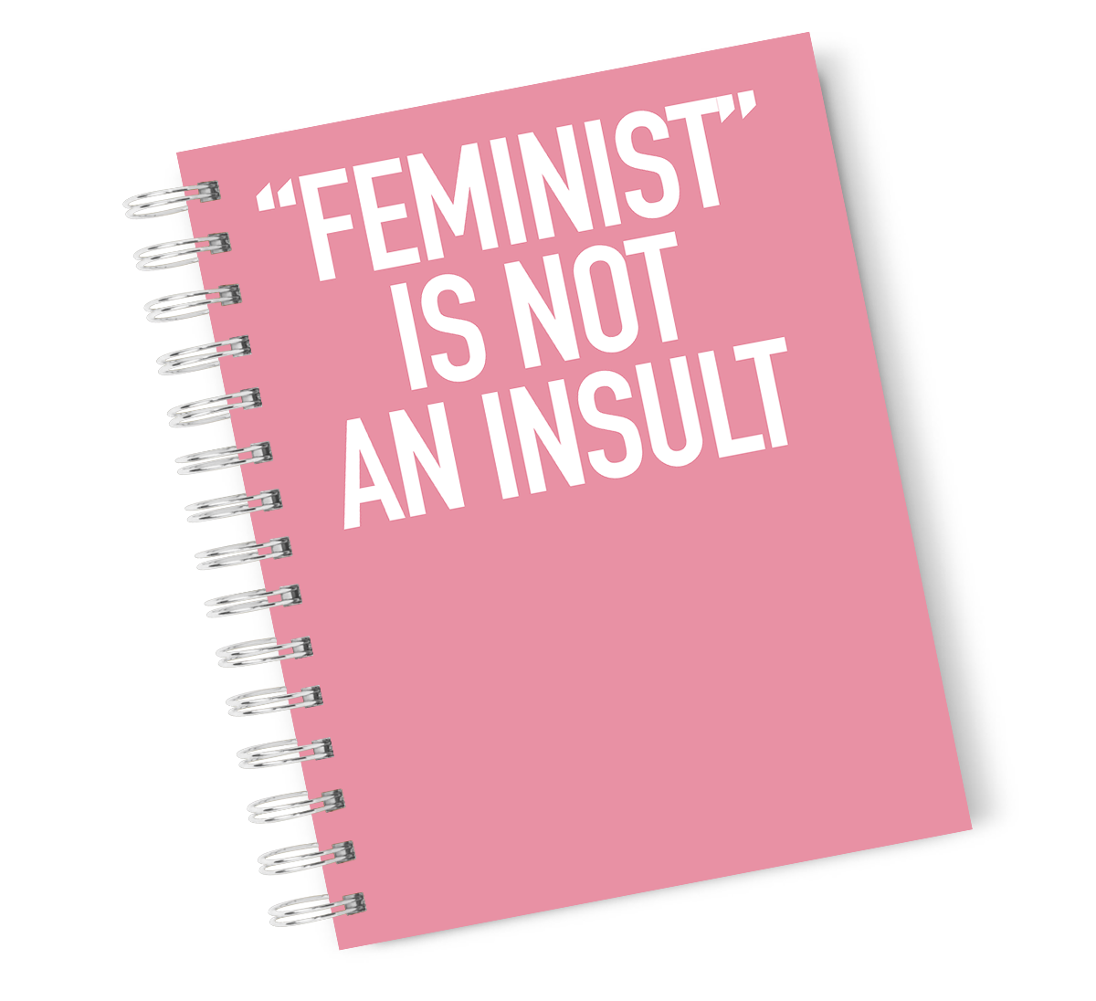 A4 Hardcover Notebook Feminism Girl Power Spiral Notebook with High Quality Bright White Paper