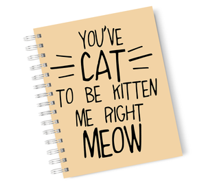 A4 Hardcover Notebook Cat Meow Kitten Spiral Notebook with High Quality Bright White Paper