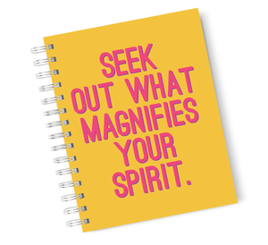 A4 Hardcover Notebook Motivation Spirit Inspiration Spiral Notebook with High Quality Bright White Paper