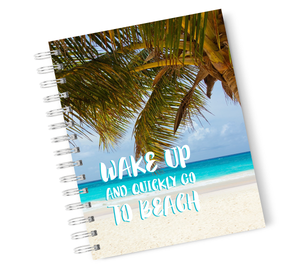A4 Hardcover Notebook Beach Vacation Spiral Notebook with High Quality Bright White Paper