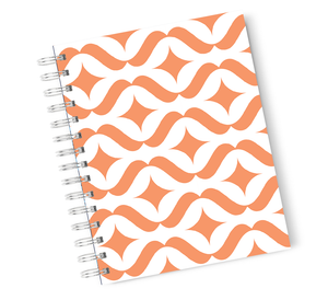 A4 Hardcover Notebook Jungle Pattern Leafy Leaf Spiral Notebook with High Quality Bright White Paper