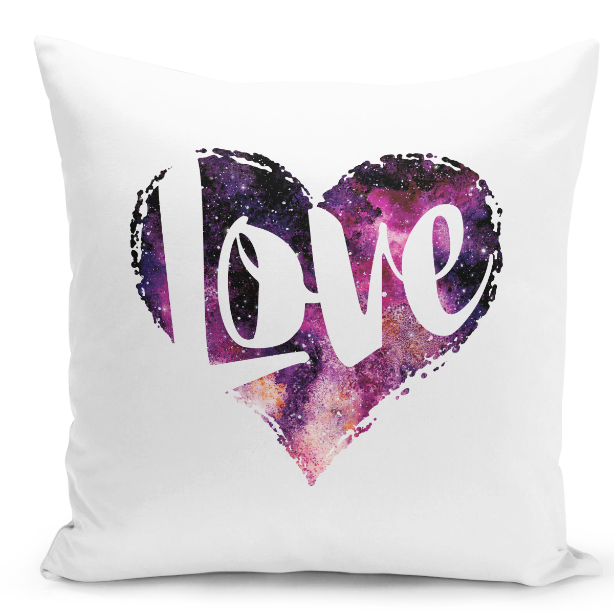 White-Throw-Pillow-Love-Heart-Galaxy-And-Stars-Astronomy-Theme---Pure-White-Printed-16-x-16-inch-Square-Home-Decor-Couch-Pillow-