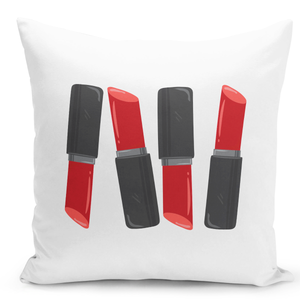 White-Throw-Pillow-Red-Lipstick-Collection---Durable-White-16-x-16-inch-Square-Home-Office-Decor-Accent-Pillow-