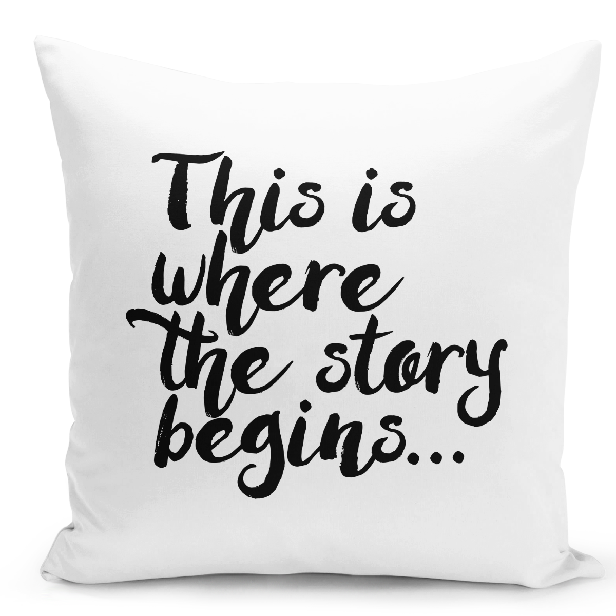 White-Throw-Pillow-This-Is-Where-The-Story-Begins---Durable-White-16-x-16-inch-Square-Home-Office-Decor-Accent-Pillow-