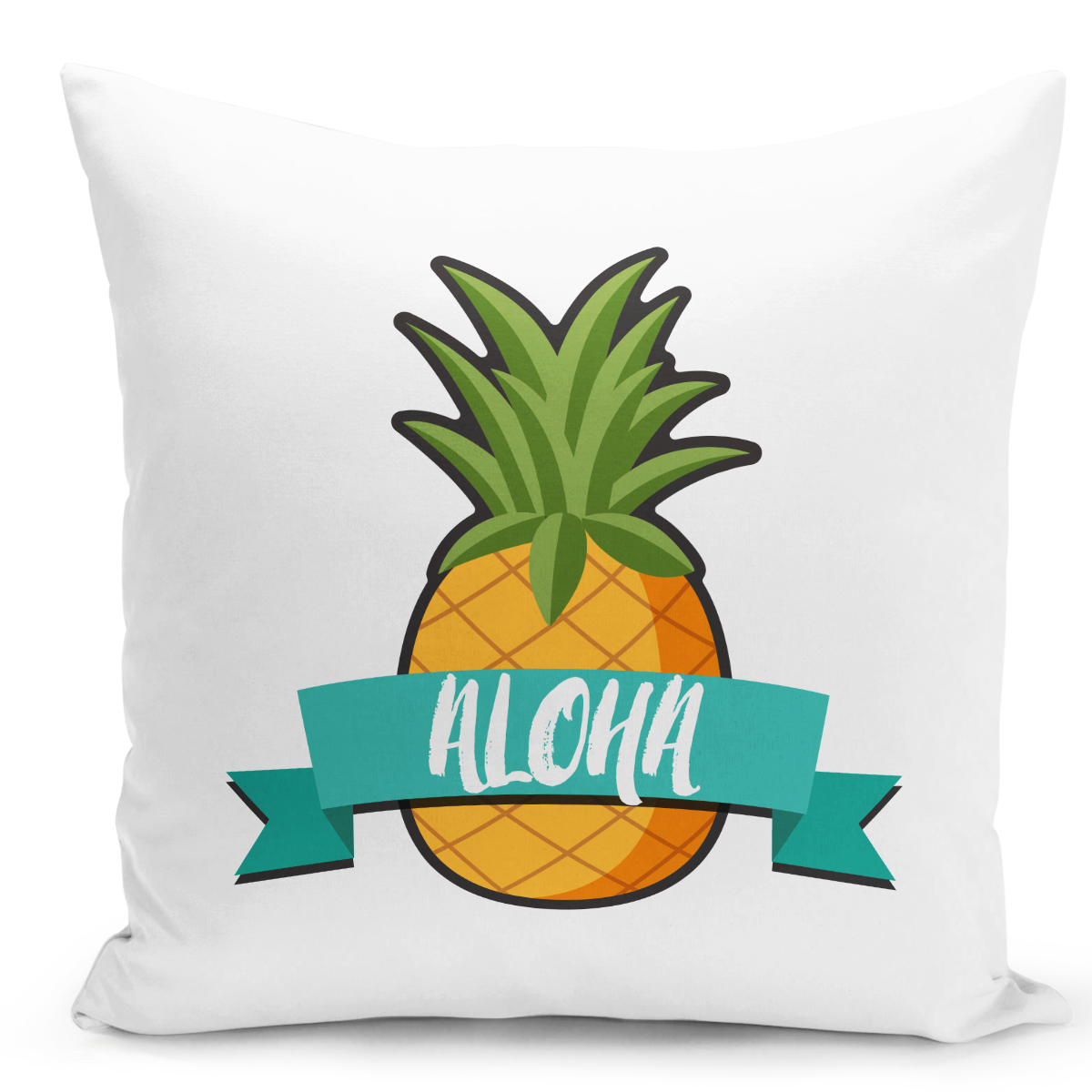 White-Throw-Pillow-Aloha-Tropical-Fruit-Pineapple-Hawai-Pillow---High-Quality-White-16-x-16-inch-Square-Home-Office-Decor-Accent-Pillow-