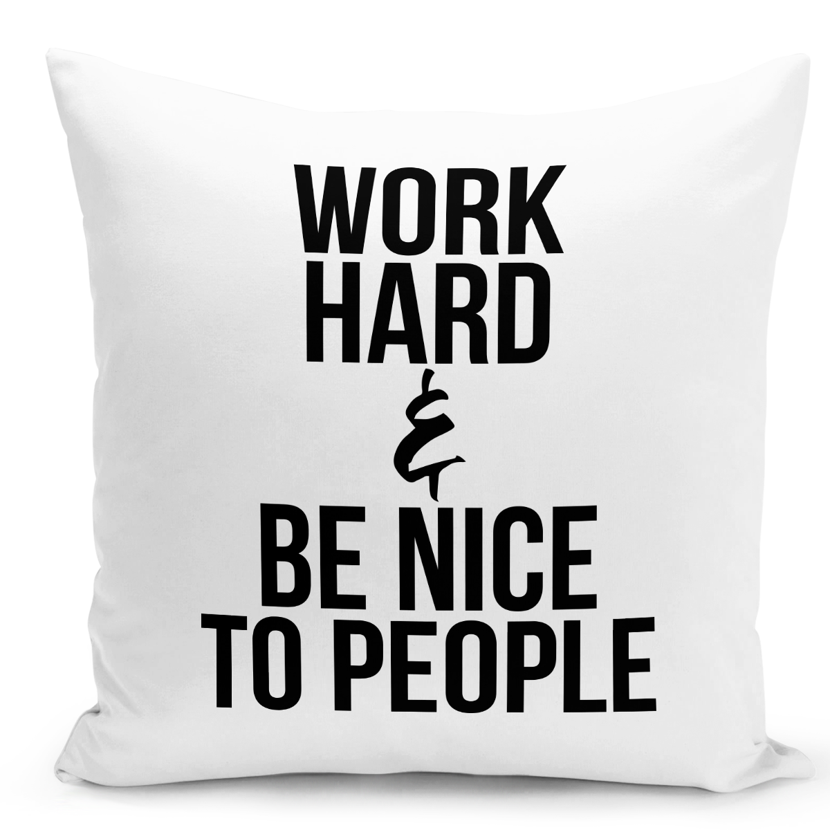 White-Throw-Pillow-Work-Hard-Pillow-Be-Nice-To-People---Durable-White-16-x-16-inch-Square-Home-Accent-Pillow-Sofa-Cushion-