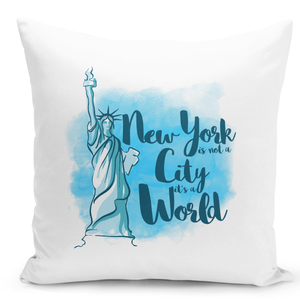 White-Throw-Pillow-New-York-City-Statue-Of-Liberty-Famous-World-Destination-Vacation-Pillow---Premium-100%-Polyester-16-x-16-inch-Square-Modern-Livingroom-Decorative-Pillow-16x16-inch-
