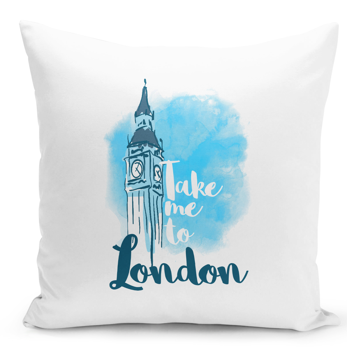 White-Throw-Pillow-Take-Me-To-Londonfamous-World-Destination-Vacation-Pillow---Premium-100%-Polyester-16-x-16-inch-Square-Modern-Livingroom-Decorative-Pillow-16x16-inch-