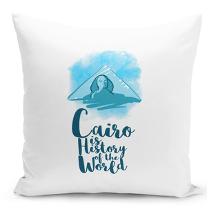 White-Throw-Pillow-Cairo-Pyramid-Of-Egypt-Famous-World-Destination-Vacation-Pillow---Premium-100%-Polyester-16-x-16-inch-Square-Modern-Livingroom-Decorative-Pillow-16x16-inch-