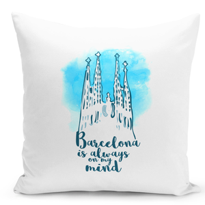 White-Throw-Pillow-Barcelona-Is-Always-On-My-Mind-Famous-World-Destination-Vacation-Pillow---Premium-100%-Polyester-16-x-16-inch-Square-Modern-Livingroom-Decorative-Pillow-16x16-inch-